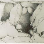 Rock Shelter II, 1985, 20 x 26 inches, graphite on rives lightweight